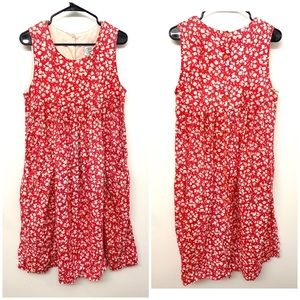 VTG Laura Ashley Button back Red Floral dress 10